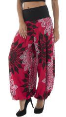 Pantalon ample légèrement bouffant avec mandalas Karalyn 291877