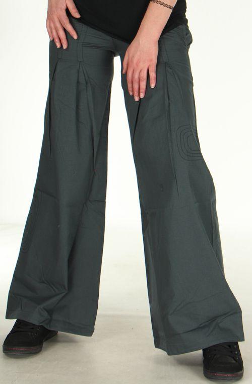 pantalon ample ou bouffant pour femme original tayao gris. Black Bedroom Furniture Sets. Home Design Ideas