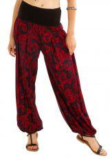 Pantalon ample pour femme avec un imprimé style bohème Peline