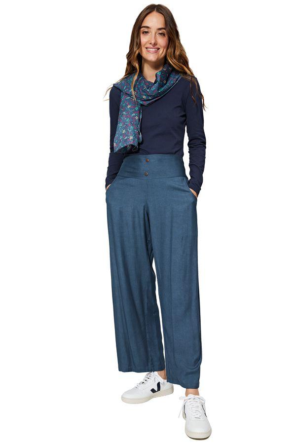 Pantalon ample pour femme couleur unie chic Maggie
