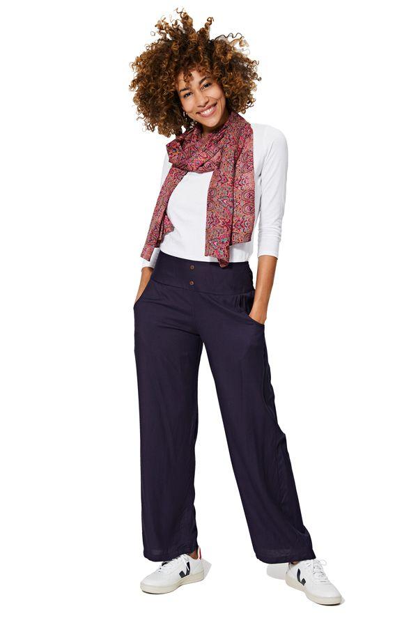 Pantalon ample pour femme couleur unie marine classic Olive