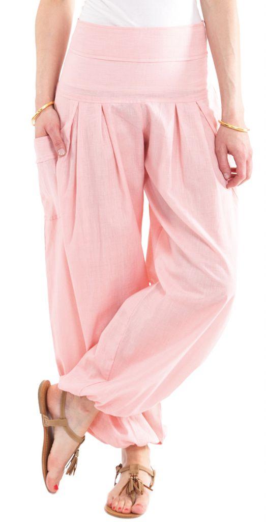 Pantalon Ample pour Femme Détente ou Yoga Audric Vieux Rose 282261