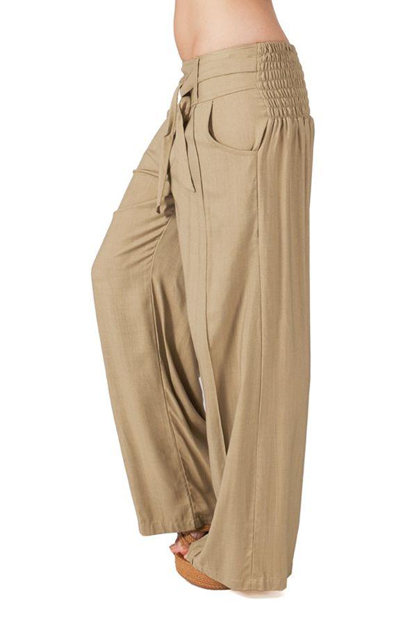 aa3f65d92a4026 Pantalon ample pour femme Ethnique et Agréable Glenn Sable