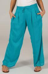 Pantalon Ample pour femme Ethnique et Fluide Voltair Bleu 284541
