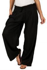 Pantalon Ample pour femme Ethnique et Fluide Voltair Noir 284537