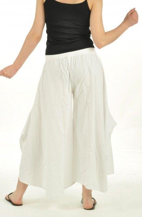 Pantalon ample pour femme léonie blanc 251799