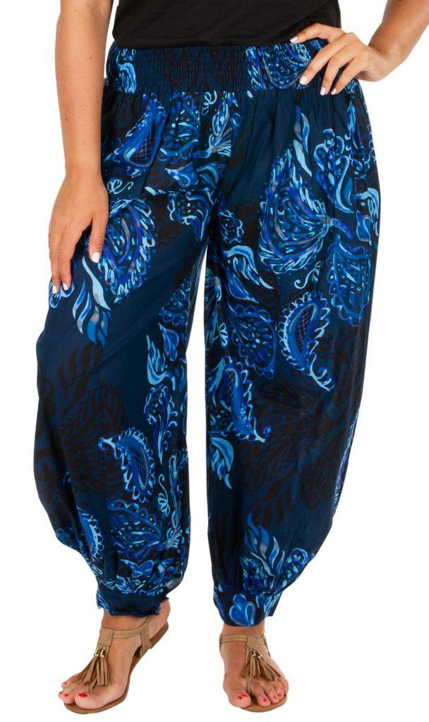 Pantalon ample style oriental pour femme grande taille