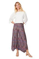 Pantalon asymétrique femme fluide large hippie chic Motoyo