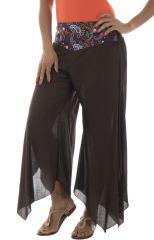 Pantalon Asymétrique pour femme Original et Léger Gaetan Choco 295002