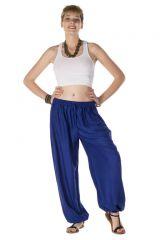 pantalon atypique pour femme avec un effet bouffant bleu Cairns 288977
