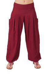 Pantalon Audric pour Femme Yoga ou Détente Bordeaux 282256