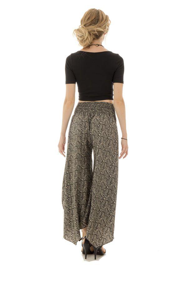 Pantalon avec charmante coupe asymétrique et motifs fantaisies Elin 289658