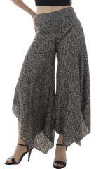 Pantalon avec charmante coupe asymétrique et motifs fantaisies Elin 291873