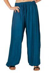 Pantalon baba cool et original femme bleu pétrole Maxime 282758