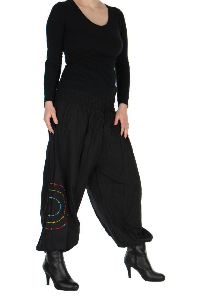 Pantalon baba cool Népalais noir calia 265915