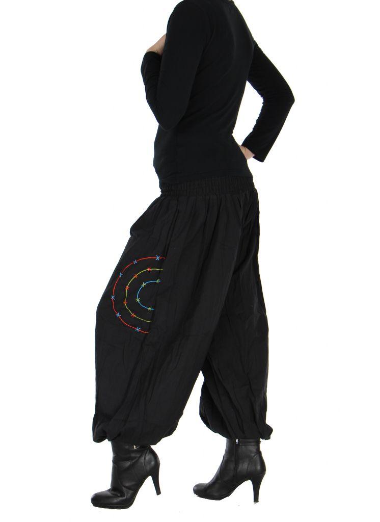 Pantalon baba cool Népalais noir calia 265916