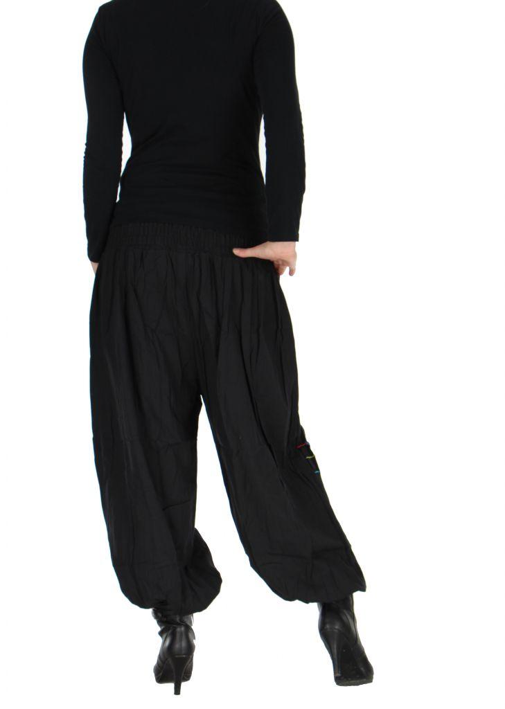 Pantalon baba cool Népalais noir calia 265917
