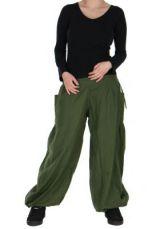 Pantalon basique ethnique Aladin kaki 266652