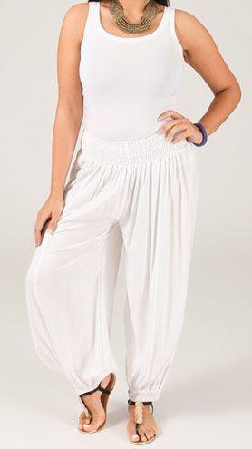 Pantalon Blanc Aladin pour femme Grande taille Edena 269528