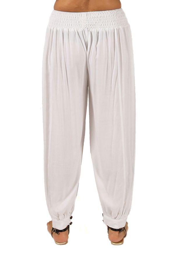 Pantalon Blanc Aladin pour femme Grande taille Edena 283787
