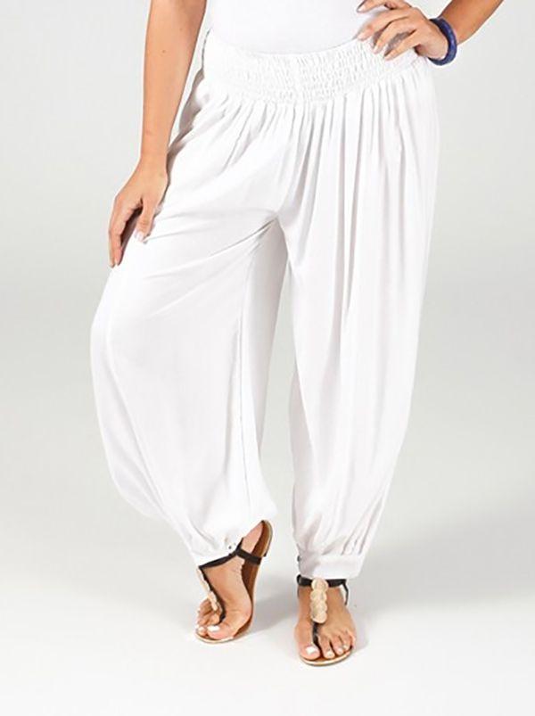 Pantalon Blanc Aladin pour femme Grande taille Edena 317360