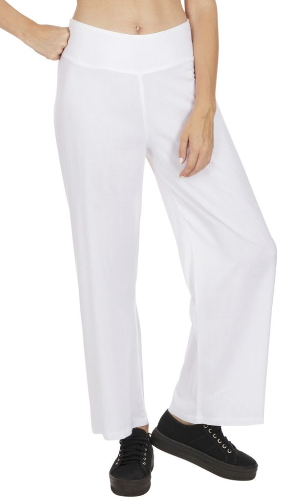 pantalon blanc femme tenue mariage chic pas cher Friendly 318390
