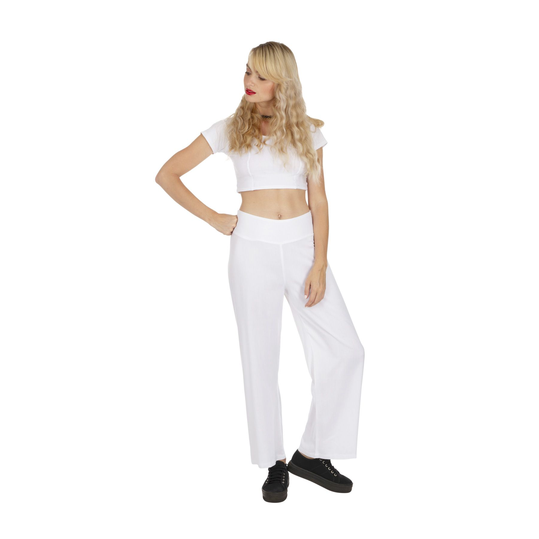pantalon blanc femme tenue mariage chic pas cher Friendly 318392