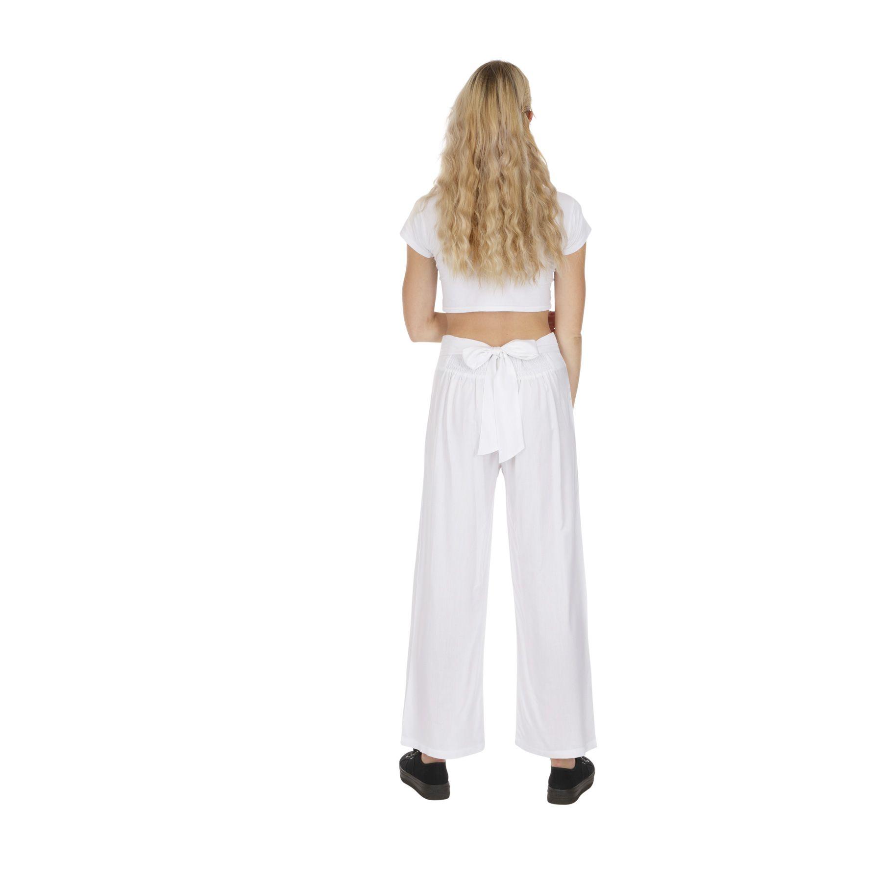 pantalon blanc femme tenue mariage chic pas cher Friendly 318393