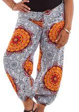 Pantalon Blanc Imprimé et Original Grande Taille Lionel 283779