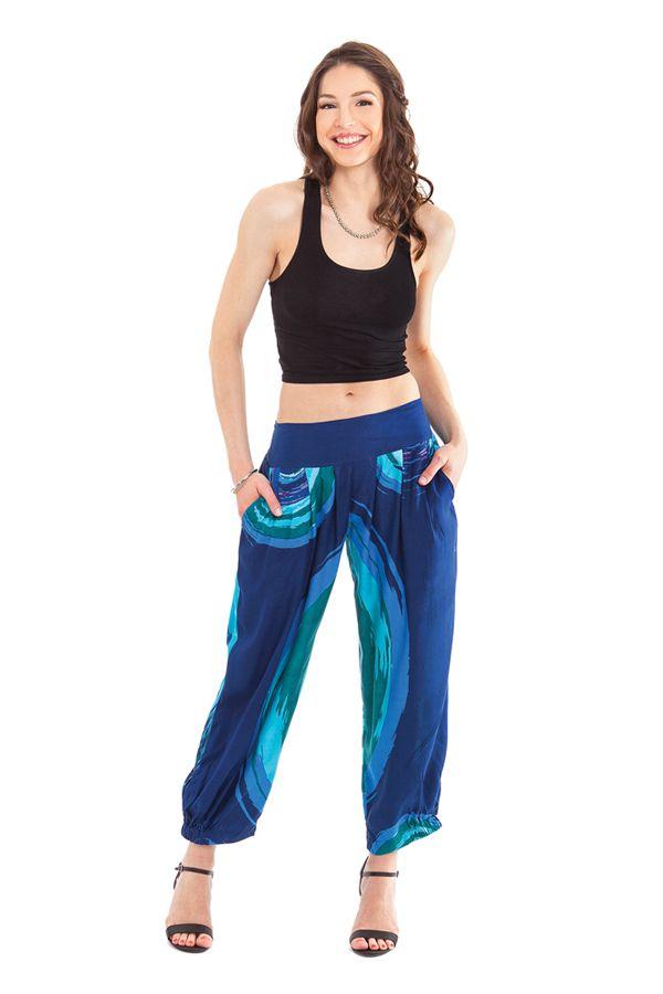 Pantalon Bleu d'été 7/8 Ethnique et Original Rudolf 281364