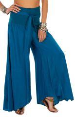 Pantalon bleu pour femme coupe ample et large Monika 311074