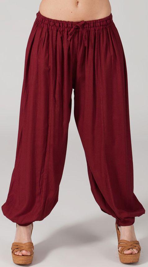 Pantalon Bordeaux pour femme bouffant Original et Ethnique Gilian 274621