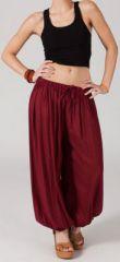 Pantalon Bordeaux pour femme bouffant Original et Ethnique Gilian 274622