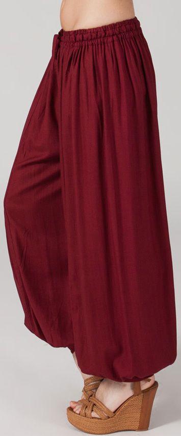 Pantalon Bordeaux pour femme bouffant Original et Ethnique Gilian 274623