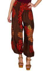 Pantalon bouffant avec imprimés et élastiqué à la taille Adaline 294889