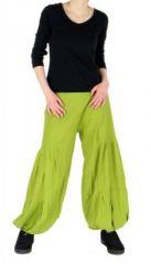 Pantalon bouffant ethnique hulap anis 245111