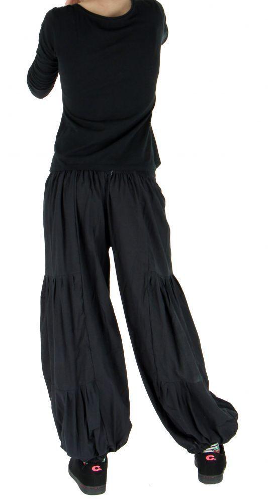 Pantalon bouffant ethnique hulap noir 255144