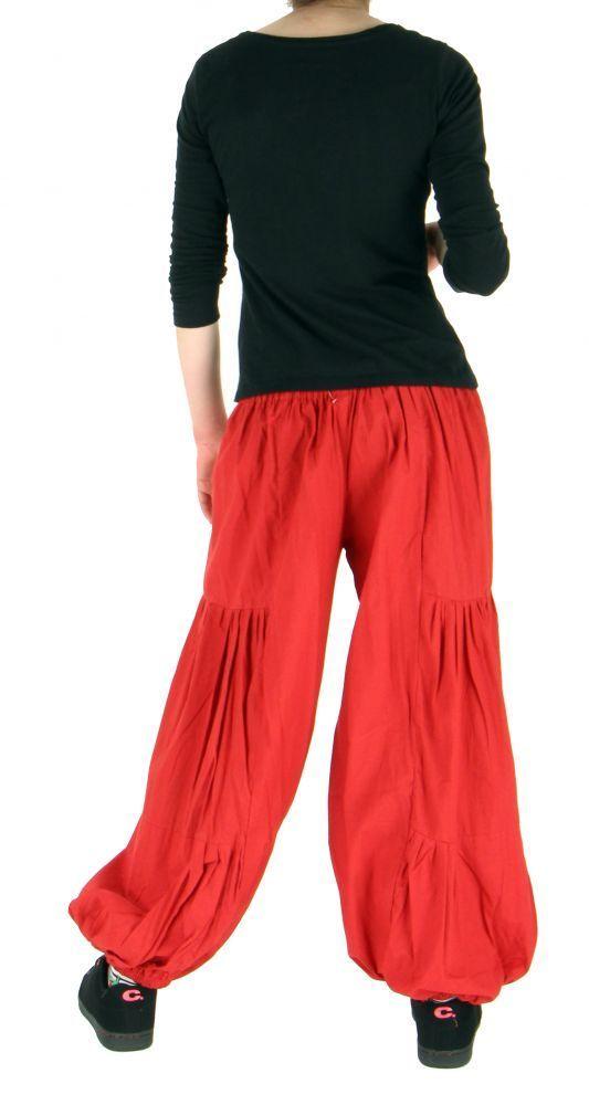 Pantalon bouffant ethnique hulap rouge 255141