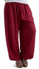 Pantalon bouffant Ethnique idéal pour Yoga Anadam Bordeaux 283499
