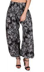 Pantalon bouffant imprimé élégant et élastiqué à la taille Adaline 294873