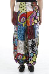 Pantalon bouffant original et très coloré ethnique Laurent 310635