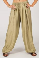 Pantalon bouffant pour femme Large et Ethnique Alain Sable 283488