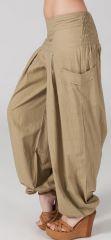 Pantalon Bouffant pour Femme Yoga ou Détente Sable Audric 282318