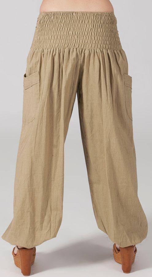 Pantalon Bouffant pour Femme Yoga ou Détente Sable Audric 282319