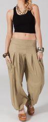 Pantalon Bouffant pour Femme Yoga ou Détente Sable Audric 282320