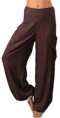Pantalon Chocolat pour Femme Fluide et Agréable Cédric 282310