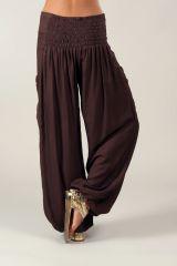 Pantalon Chocolat pour Femme Fluide et Agréable Cédric 318543