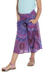 Pantalon coloré avec ouvertures aux jambes et imprimés Samy 294115