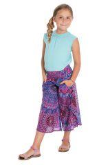 Pantalon coloré avec ouvertures aux jambes et imprimés Samy 294116