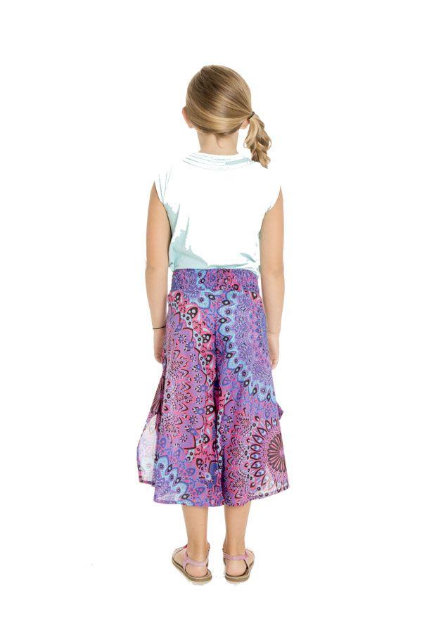 Pantalon coloré avec ouvertures aux jambes et imprimés Samy 294117
